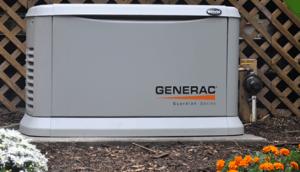 Emergency backup generator by Generac.